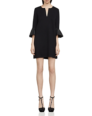Bcbgmaxazria Catier Faux-Leather Trimmed Dress