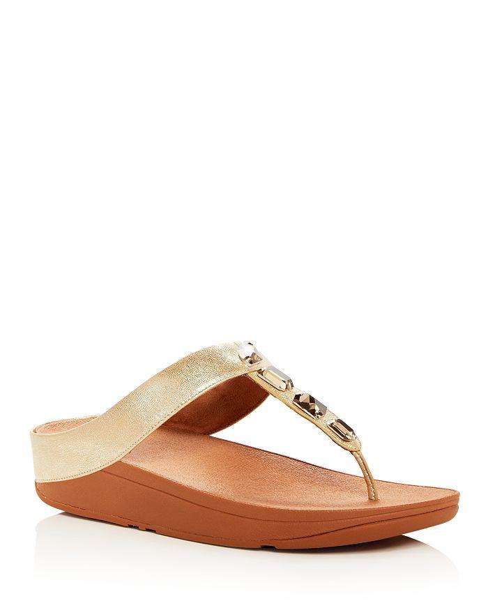 66174a6e9313a9 FitFlop - Women s Roka Embellished Platform Thong Sandals