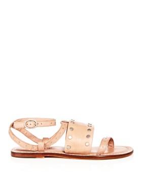 Bernardo - Women's Studded Leather Ankle Strap Sandals