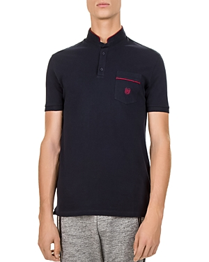 The Kooples Pique and Braid Regular Fit Polo