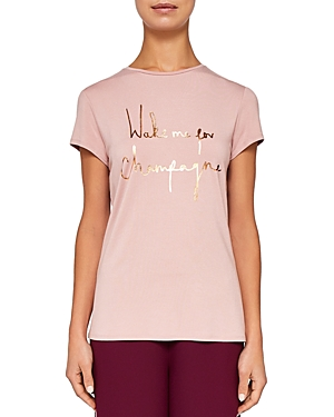 Ted Baker Ted Says Relax Lolyata Champagne Tee