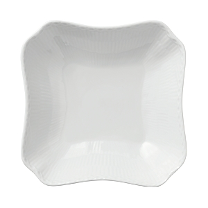 Royal Copenhagen White Fluted Half Lace Square Bowl