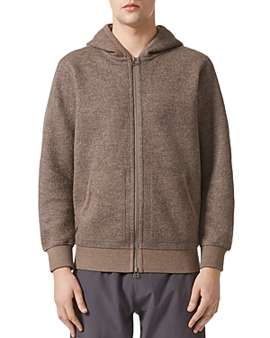 Adidas/Wings and Horns Wool-Blend Zip Hooded Sweatshirt