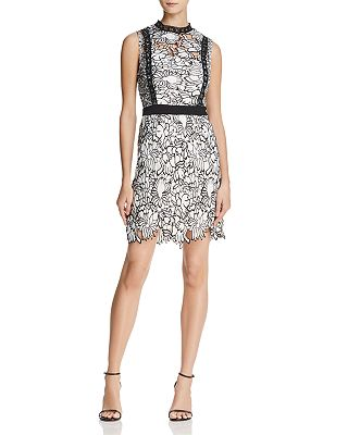 Aqua Piped Lace Cocktail Dress 100 Exclusive Bloomingdale S