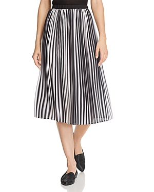 Eileen Fisher Pleated Ombre Skirt