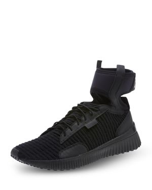 Fenty Puma X Rihanna Mid Top Ankle Cuff Sneakers in Black