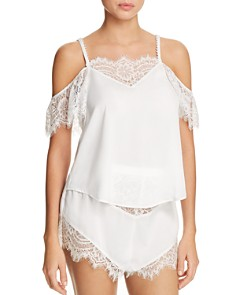 Thistle & Spire - Sterling Pearls Cold Shoulder Flowy Top