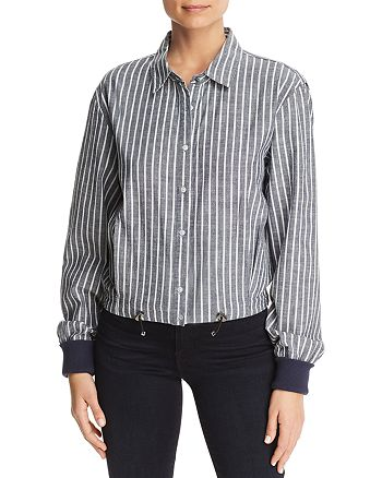Kenneth Cole - Chambray Boxy Button-Down Top