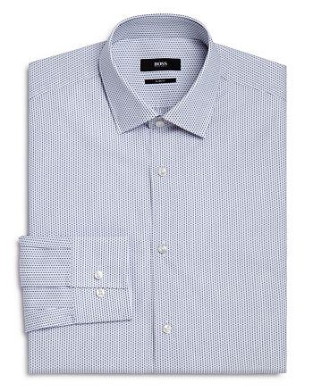 BOSS - Micro Square Slim Fit Dress Shirt