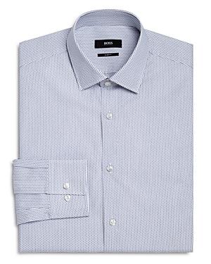 Boss Micro Square Slim Fit Dress Shirt