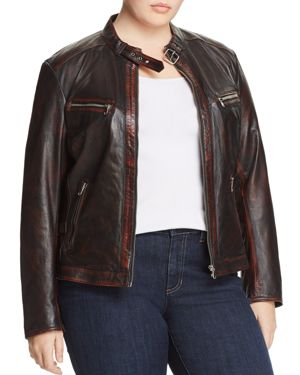 Slink Jeans Leather Moto Jacket 2899818
