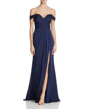 Faviana Couture Off-the-Shoulder Gown