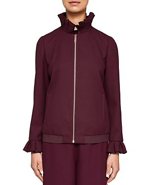 Ted Baker Ted Says Relax Lydiah Ruffled Bomber Jacket