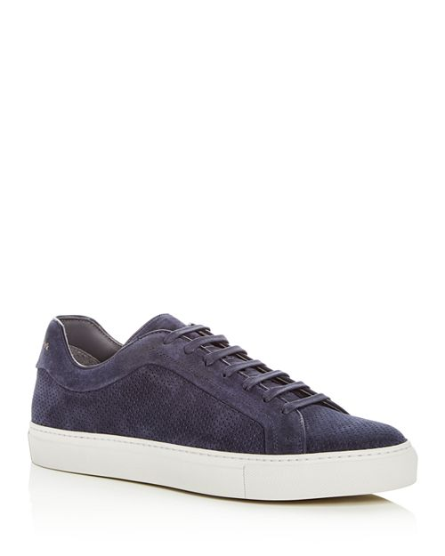 To Boot New York - Men's Hendrick Perforated Suede Lace Up Sneakers