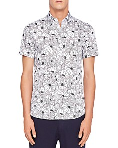 Ted Baker - Marka Oversized Floral Regular Fit Button-Down Shirt