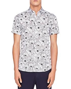 Ted Baker - Marka Oversized Floral Regular Fit Button-Down Shirt