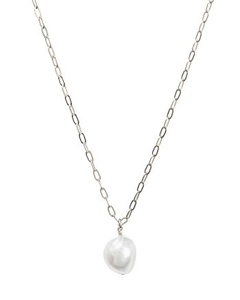 """Dogeared - Pearls of Love Pendant Necklace, 16"""""""