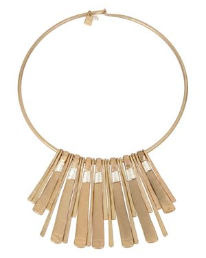 Robert Lee Morris Soho Two-Tone Wire Wrap Necklace, 16