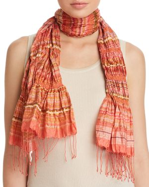 Eileen Fisher Textured Silk-Blend Scarf