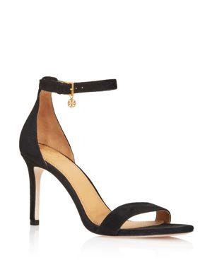 Tory Burch Women's Ellie Suede Ankle Strap High Heel Sandals