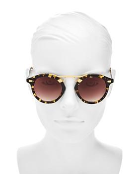 Krewe - Women's STL II 24K Gradient Round Sunglasses, 48mm