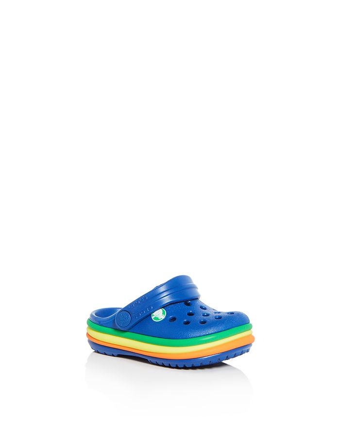 Crocs - Unisex Rainbow Band Clogs - Toddler, Little Kid, Big Kid