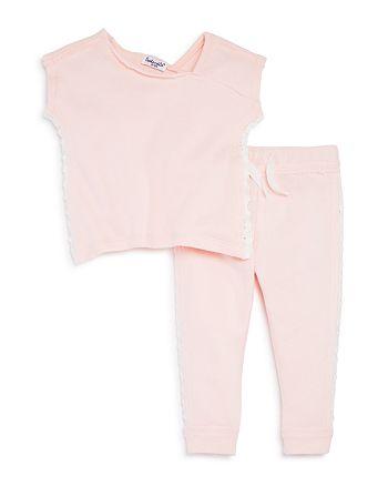 Splendid - Girls' Lace-Trimmed Sweatshirt & Jogger Pants Set - Baby