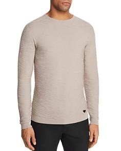 Armani - Solid Textured Knit Sweater