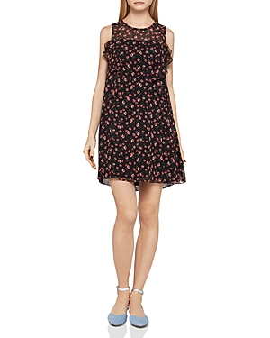 BCBGeneration Ruffled Floral Print Tent Dress