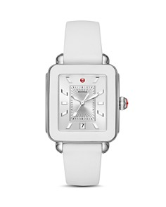 MICHELE - Deco Sport White Bezel Watch, 34mm x 36mm