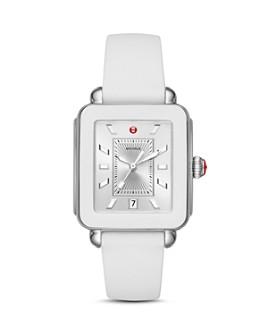 MICHELE - Deco Sport Silicone Bezel Watch, 34mm x 36mm