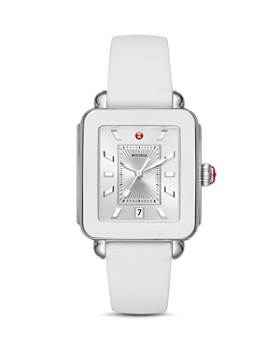 MICHELE - Deco White Bezel Sport Watch, 34mm x 36mm