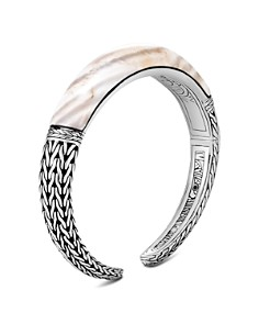 John Hardy Sterling Silver Classic Chain Small Graduated White Agate Kick Cuff - Bloomingdale's_0