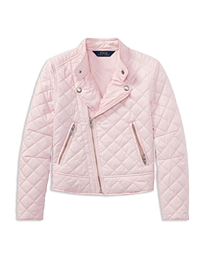 Polo Ralph Lauren Girls Quilted Moto Jacket  Big Kid