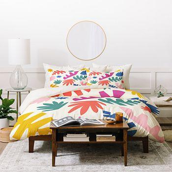 Deny Designs - Zoe Wodarz Cut Paper Garden Duvet Cover Set, King