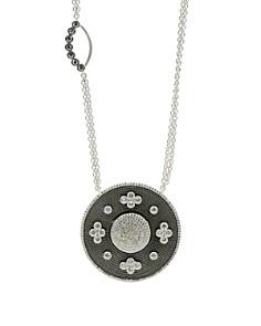 "Freida Rothman - Double Side Pendant Necklace, 27"""
