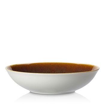 Royal Crown Derby - Derby Art Glaze Flamed Caramel Fruit Bowl Rimmed Bowl