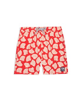 TOM & TEDDY - Boys' Shell-Print Swim Trunks - Little Kid, Big Kid