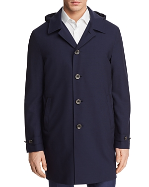 Canali Impeccabile Detachable Hood Raincoat