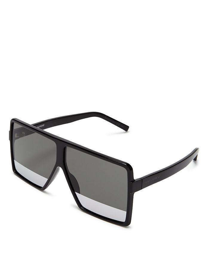 bdfb90c4be68 Saint Laurent - Women s SL 183 Betty Square Shield Sunglasses