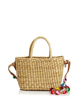 Nannacay - Fidji Pom-Pom Straw Crossbody