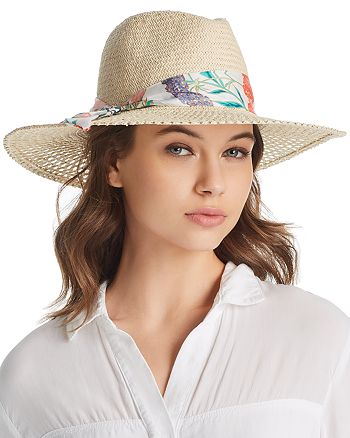 kate spade new york - Soft Caning Long Brim Fedora
