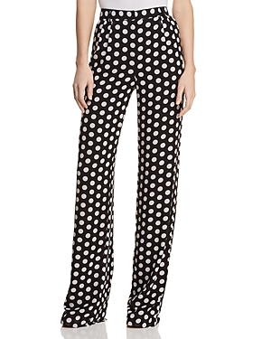 Michael Michael Kors Pleated Polka-Dot Pants