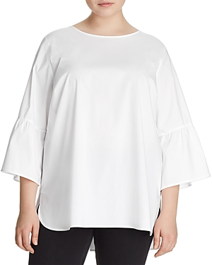 Foxcroft Plus Rory Bell Sleeve Top