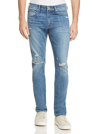 PAIGE - Transcend Lennox Skinny Fit Jeans in Cartwright Destructed