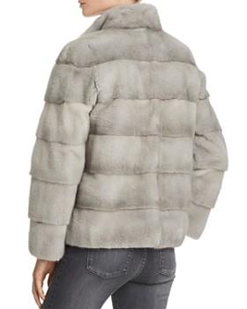 Maximilian Furs - Mink Fur Stand Collar Coat