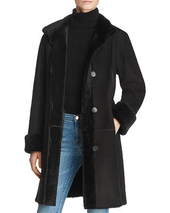 Maximilian Furs - Shearling Coat with Toscana Shearling Stand Collar - 100% Exclusive