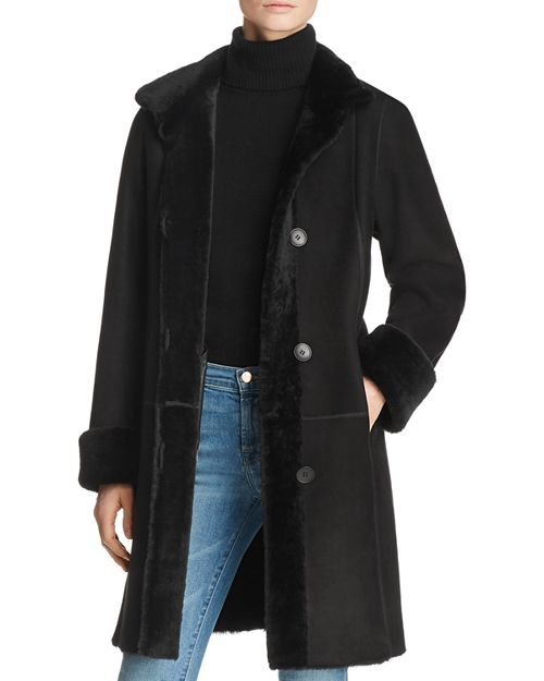 Maximilian Furs - Peyton Shearling Coat with Toscana Shearling Stand Collar - 100% Exclusive
