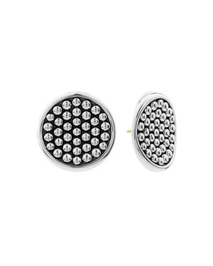 Lagos Sterling Silver Bold Caviar Button Earrings