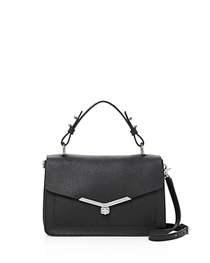 Botkier Valentina Pebbled-Leather Satchel-Handbags